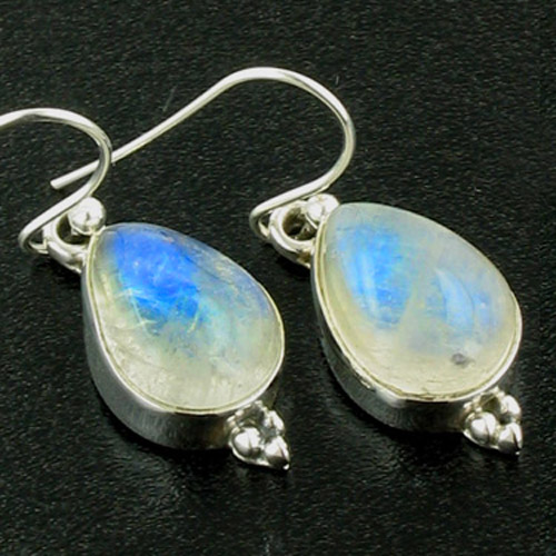 Rainbow Moonstone Tear Drop Earrings Adelle