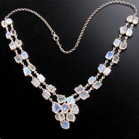 Rainbow Moonstone Necklace Helena