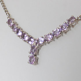 Amethyst Necklace Ella