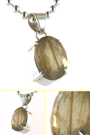 Golden Rutilated Quartz Pendant Candy