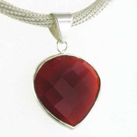 Red Onyx Heart Pendant Saskia