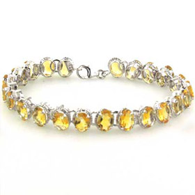 Citrine Bracelets - Sterling Silver -  Booth and Booth