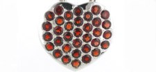 Garnet Pendants in Sterling Silver