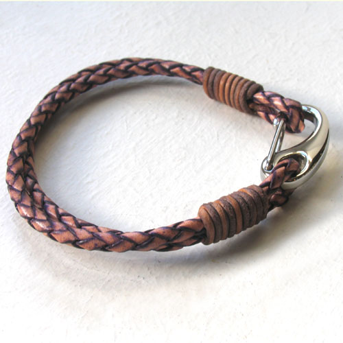 2 Tone Leather Bracelet Bach