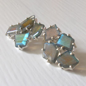 Labradorite Cluster Earrings Amelie