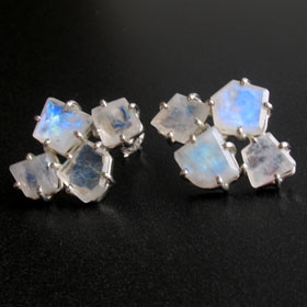 Rainbow Moonstone Earrings Amelie