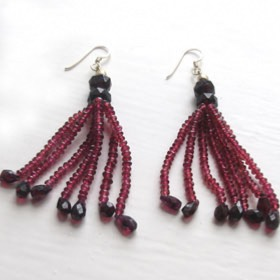 Garnet Bead Earrings Rachel