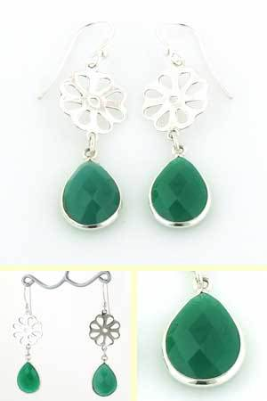 Green Onyx Earrings Evie