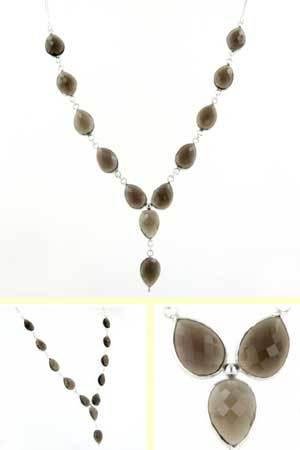 Smokey Quartz Necklace Oriana