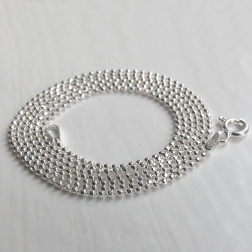 Sterling Silver Diamond Cut Ball Chain, Width 1.2mm