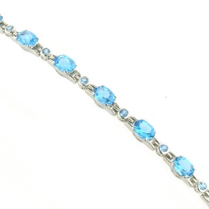 Blue Topaz Bracelets - Boothandbooth.co.uk