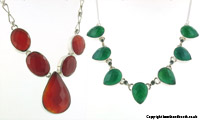 Green Onyx and Red Onyx Necklaces