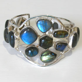 Large Labradorite Bangle Laney