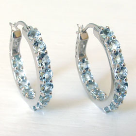 Aquamarine Hoop Earrings Madeleine