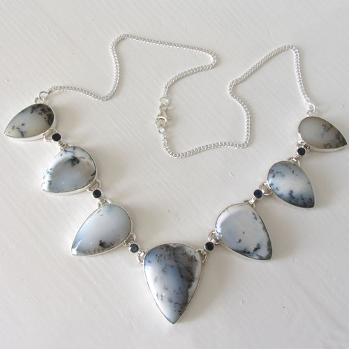 Dendritic Agate Necklace Hilary