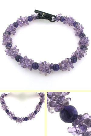 Amethyst Bead Necklace Gwyneth