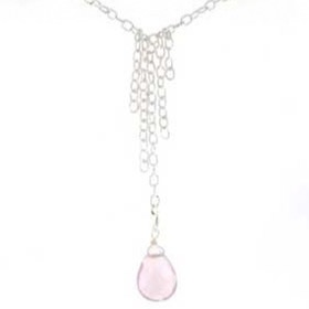 Rose Quartz Pendant Necklace Dee