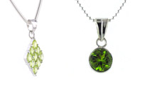Peridot and Sterling Silver Pendants
