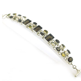 Smokey Quartz and Lemon Quartz Bracelet Kiki
