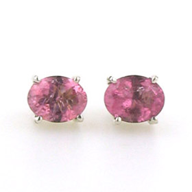 Tourmaline Light Pink Stud Earrings Clarissa