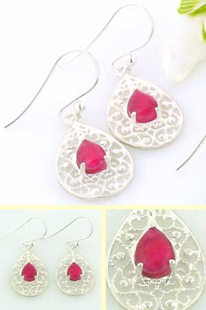 Ruby Earrings Rebecca