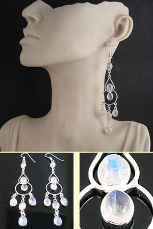 Moonstone Statement Earrings Esme