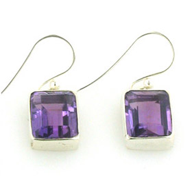 Amethyst Droplet Earrings Samantha