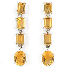 Citrine Earrings Joanna
