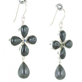 Haematite Earrings Elizabeth
