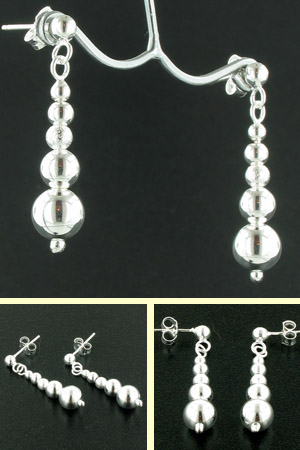 Sterling Silver Ball Earrings Antonia