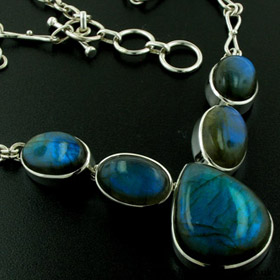 Labradorite Necklace - Boothandbooth.co.uk