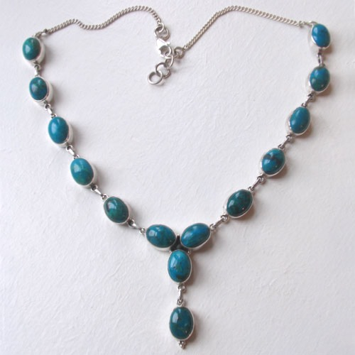 Chrysocolla Necklace Sadie