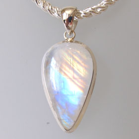 Rainbow Moonstone Pendant Geneveive