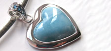 Larimar Pendants in Sterling Silver