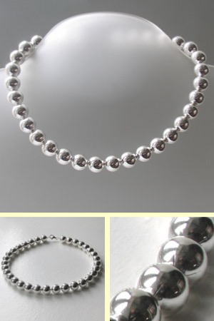 Sterling Silver Ball Chain, Width 12mm