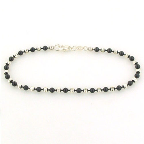 Diamond Cut Sterling Silver Ball Bracelet