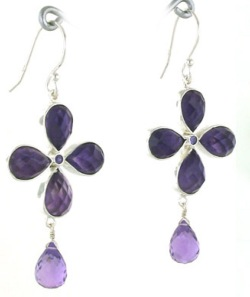 Amethyst Earrings - Boothandbooth.co.uk