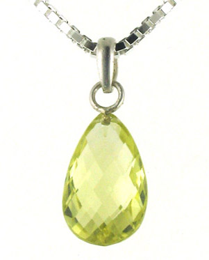 Zingy Lemon Quartz Pendant - Booth and Booth