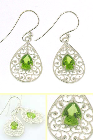 Peridot Earrings Rebecca