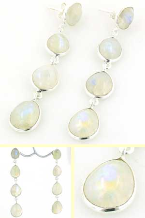 Rainbow Moonstone Earrings Adrienne