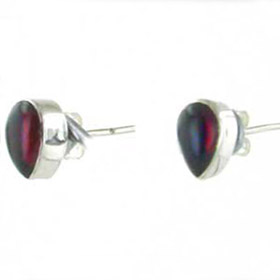 Garnet Pear Stud Earrings Pia