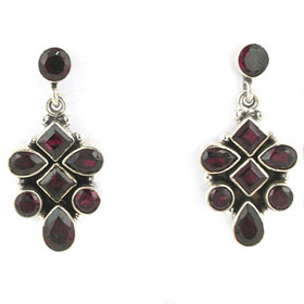 Garnet Earrings Rita