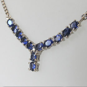 Iolite Necklace Ella