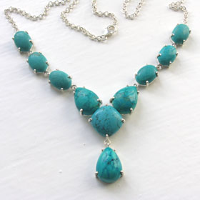 Turquoise Necklace - Boothandbooth.co.uk