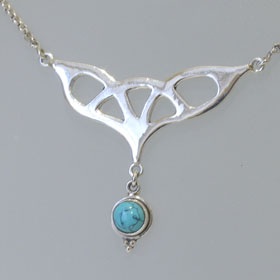 Turquoise Pendant Necklace Corinne