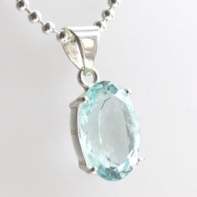 Aquamarine Pendant Ashley