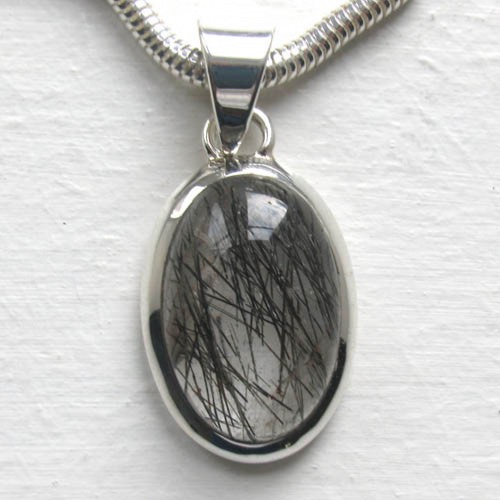 Black Rutilated Quartz Pendant Monique