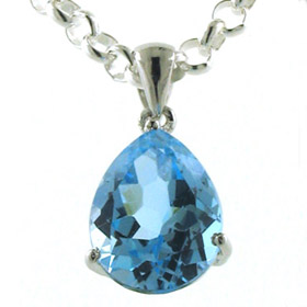 Swiss Blue Topaz Pendant Margherite