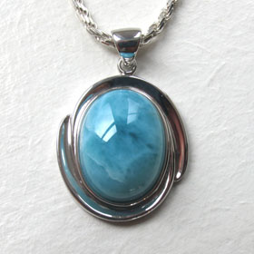 Larimar pendants - Gemstone Jewellery Booth and Booth