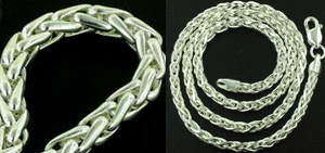 Silver Wheat Chains